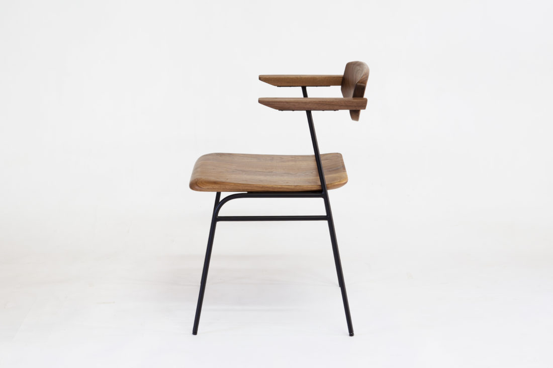 IKKE dining chair iron walnut