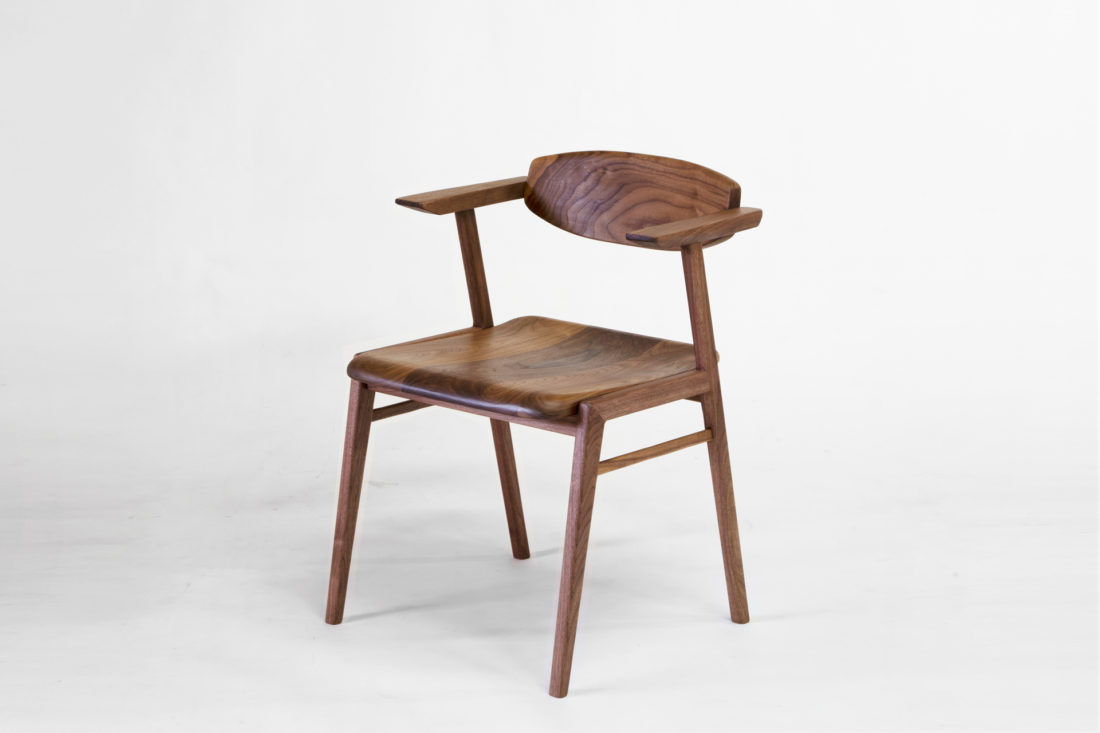 IKKE dining chair wood walnut